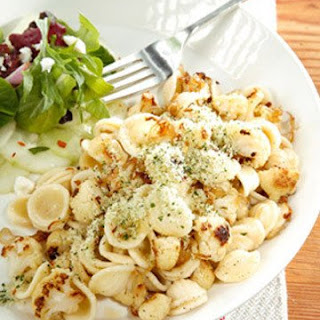 Orecchiette with Caramelized Cauliflower, Shallots, and Herbed Breadcrumbs