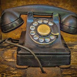 Rotary Phone by Rosemary Jardine - Artistic Objects Antiques ( antique telephone, rotary phone, telephone, old dial phone, antique phone )