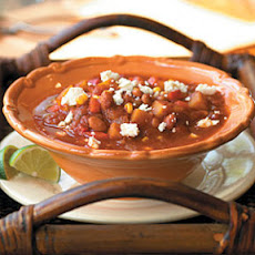 Pinto Bean Chili with Corn and Winter Squash