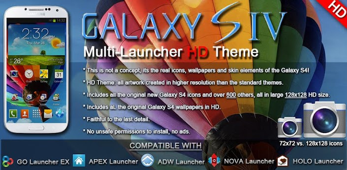 Galaxy S4 Multi Launcher Theme v2.2