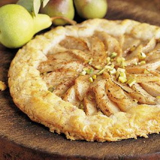 Candied Pear Tart with Pistachios
