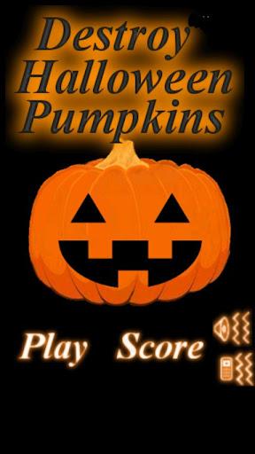 Destroy Halloween Pumpkins
