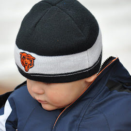 Go Bears! by Dawn Hoehn Hagler - Babies & Children Toddlers ( child, orange, blue, bears, chicago bears, toddler, boy, orange. color )