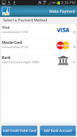 Screenshot of PG&E Mobile Bill Pay