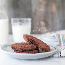 Almond Pulp Double Chocolate Cookies