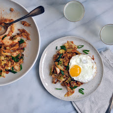 Kimchi Style Cabbage and Fried Eggs