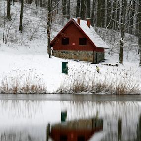 KUĆA by Zeljko Sajko-Saja - Buildings & Architecture Homes ( kuća, priroda, odraz, jezero, voda )