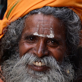 Happy Baba by Rakesh Syal - People Portraits of Men