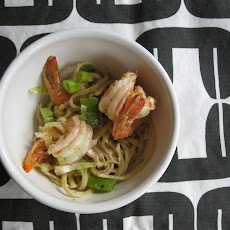 Sesame Noodles with Spicy Pickled Shrimp
