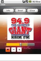 Screenshot of KBIM