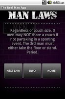 Screenshot of The Real Man App