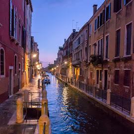 Venice, Italy by Stan Petru - City,  Street & Park  Street Scenes ( venezia, italia, venetia, venice, night, italy )