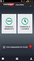 Screenshot of TAXIS G7 Account