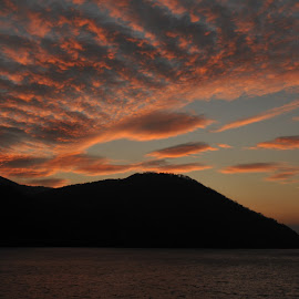 Cloud On Iron Gates , Danube by Adrian Per - Landscapes Cloud Formations ( clouds, mnountains, cumulus, sunset, romania, danube )