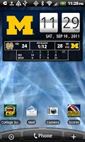 Screenshot of Michigan Wolverines Live Clock