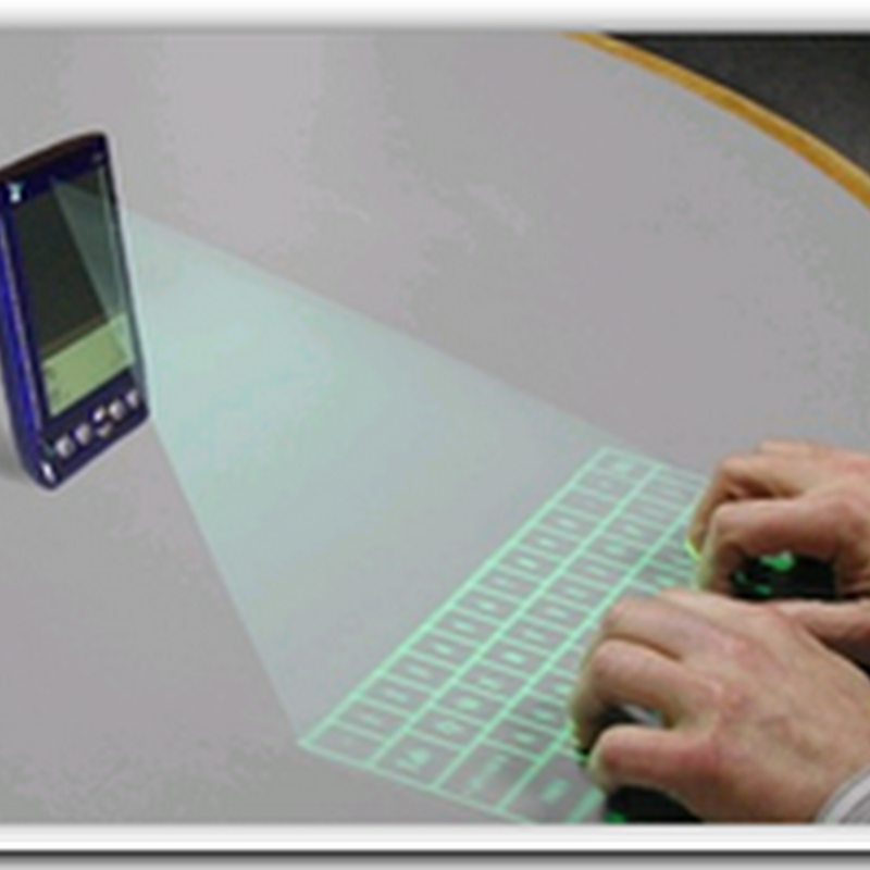 PDA with a projected keyboard to Type