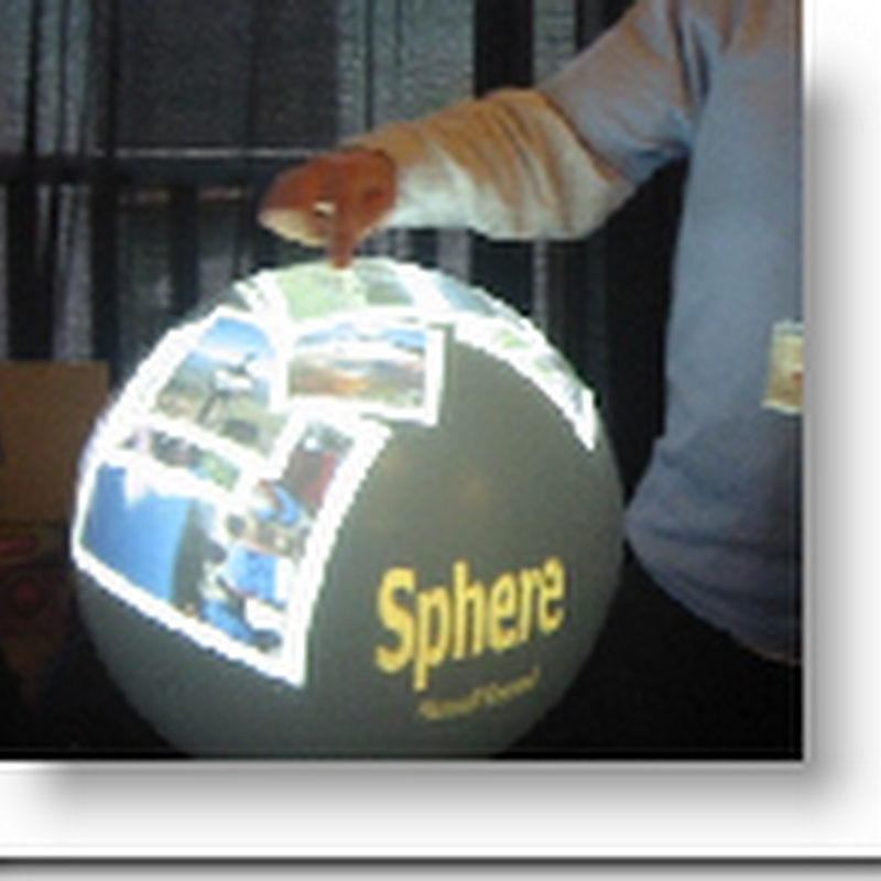 Microsoft's Sphere display in action - Global Electronic Medical Records?