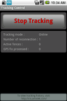 Screenshot of CTS tracker