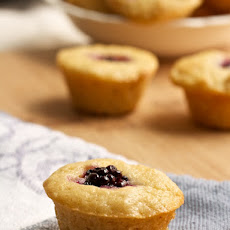 Bite-Sized Blackberry Brown Sugar Cakes