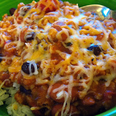 Spicy Two-Bean Vegetarian Chili