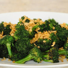 Grilled Broccoli Over Blue Cheese Dressing