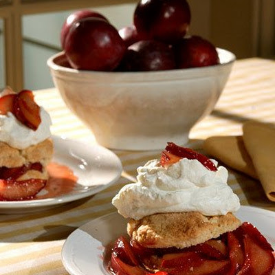 Warm Plum Shortcakes