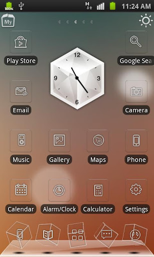 dreamy-lights-rabbit-launcher for android screenshot
