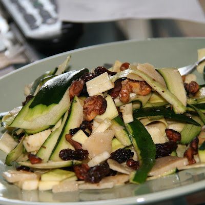 Zucchini Ribbon Salad with Parmigiano and Raisins