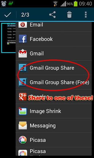 Group Share for Gmail - screenshot