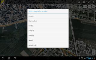 Screenshot of Maps Ruler