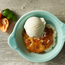 Spicy Vanilla Caramel Pineapple Sundaes
