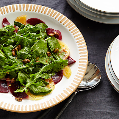 Arugula Salad with Pickled Beets and Preserved-Lemon Viniagrette