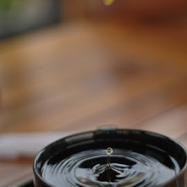 Water Drop by Inderawan Adi Cahyono - Novices Only Objects & Still Life ( water, nature, waterdrop, like4like, cuptea )