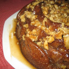 Pear Spice Bundt Cake With Walnut Praline Topping