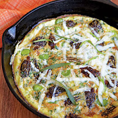 Frittata with Morels, Fava Beans, and Pecorino Romano Cheese
