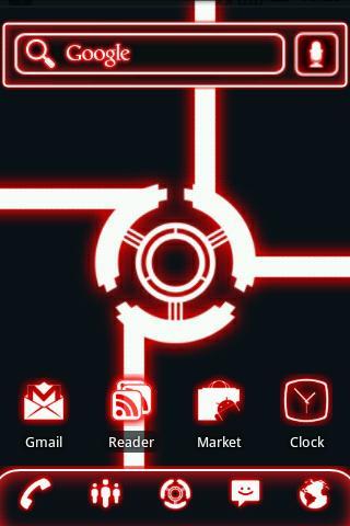 ADW Theme Glow Legacy Red Pro