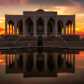 Masjid Central Mosque by Mark Anthony Bansag - Buildings & Architecture Places of Worship ( Lighting, moods, mood lighting )