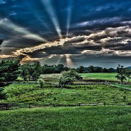 Caledonia Farm by Michael Prince - Landscapes Prairies, Meadows & Fields ( farm, field, hdr, sunrise )