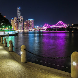 Riverside Brisbane Australia by Tony Sullivan - City,  Street & Park  Skylines ( queensland, australia, brisbane, rivers )