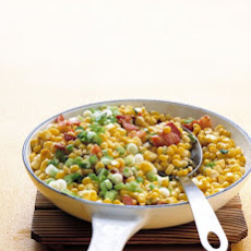 Sauteed Corn, Bacon, and Scallions