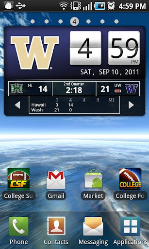 Washington Huskies Live Clock