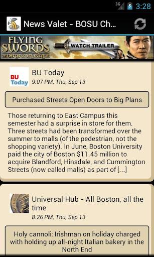 Boston University News Valet