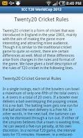 Screenshot of Live Cricket Score
