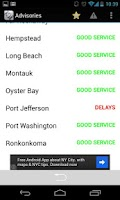 Screenshot of LIRR Train Schedule