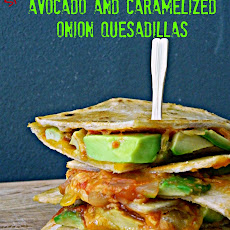 Spicy Avocado and Caramelized Onion Quesadillas