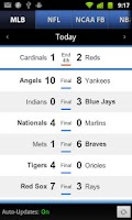Screenshot of Sports Scores & Alerts