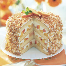 Coconut-Peach Layer Cake