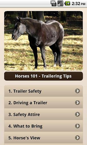 Horses 101 - Trailering Tips