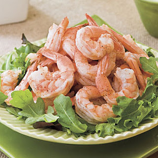Spicy Boiled Shrimp With Creamy Buttermilk-Avocado Sauce