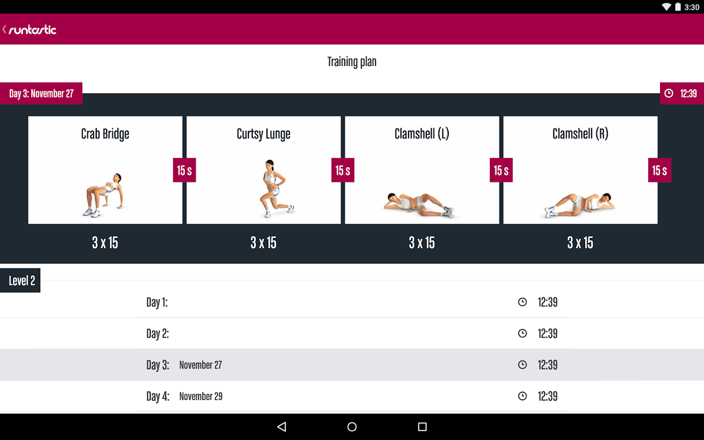 Runtastic Butt Trainer Workout Screenshot 8